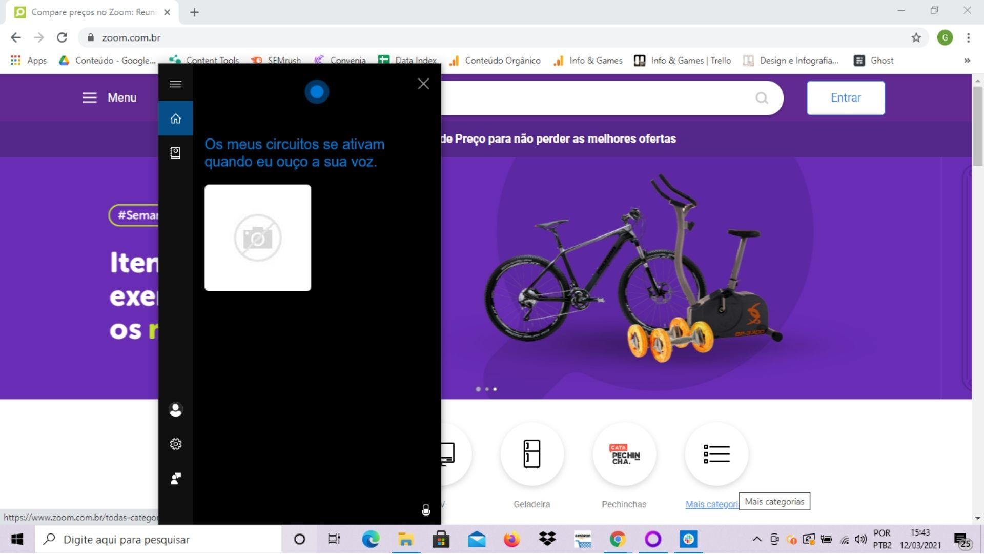 A Cortana, assistente de voz do Windows, tem um viés 'zoeiro' dependendo da pergunta que você faz para ela (Reprodução: Guilherme Toscano)