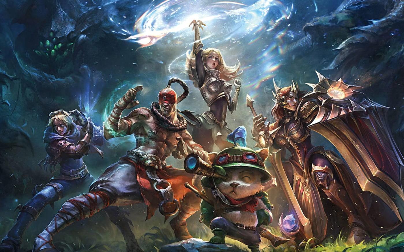 Ilustração de league of Legends, um dos jogos multiplayer mais populares