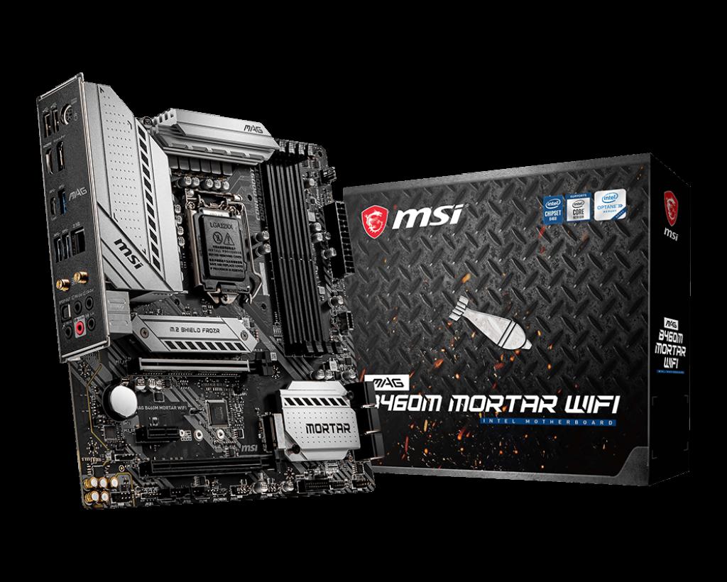A placa-mãe Mag Mortar se destaca pela robustez e durabilidade, além de ser compatível com a 10ª geração de processadores Intel (Fonte: MSI/Divulgação)