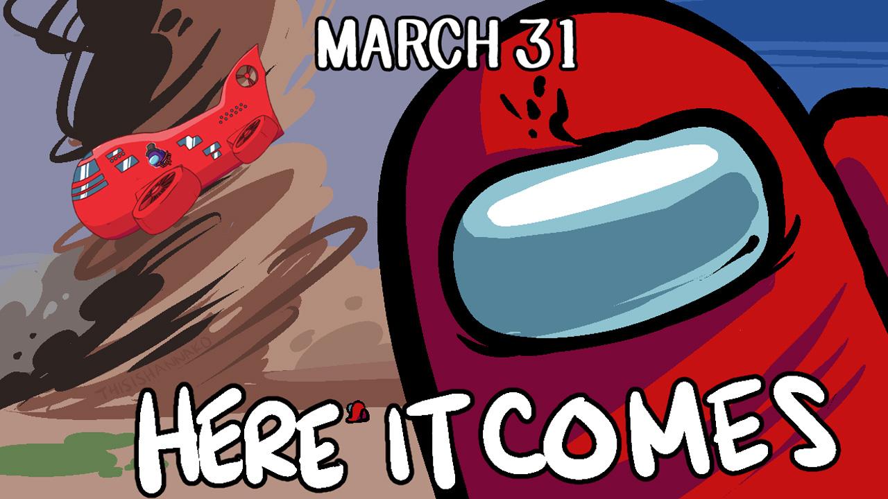 Among Us trará o novo mapa The Airship para o game gratuitamente em 31 de março (Reprodução: Innersloth)