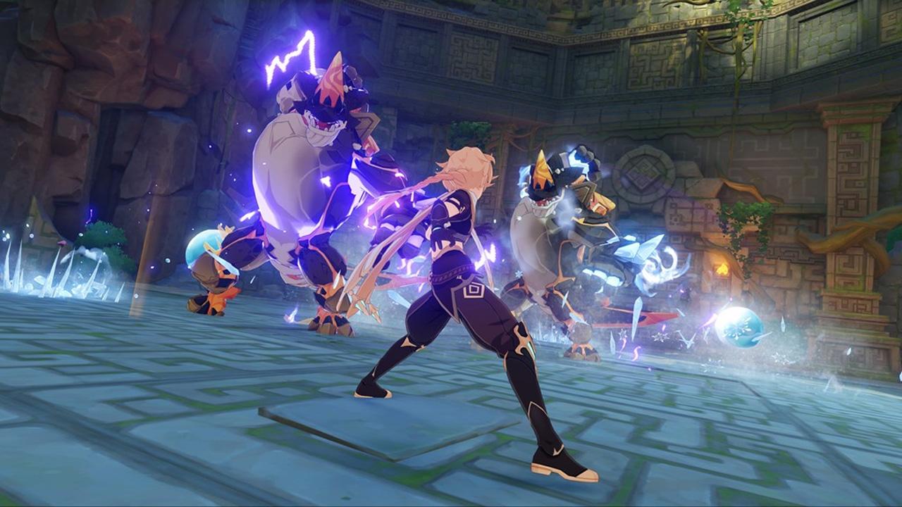 Genshin Impact traz um grande mundo aberto para explorar e perigosos inimigos para enfrentar com seus guerreiros (Divulgação: miHoYo)