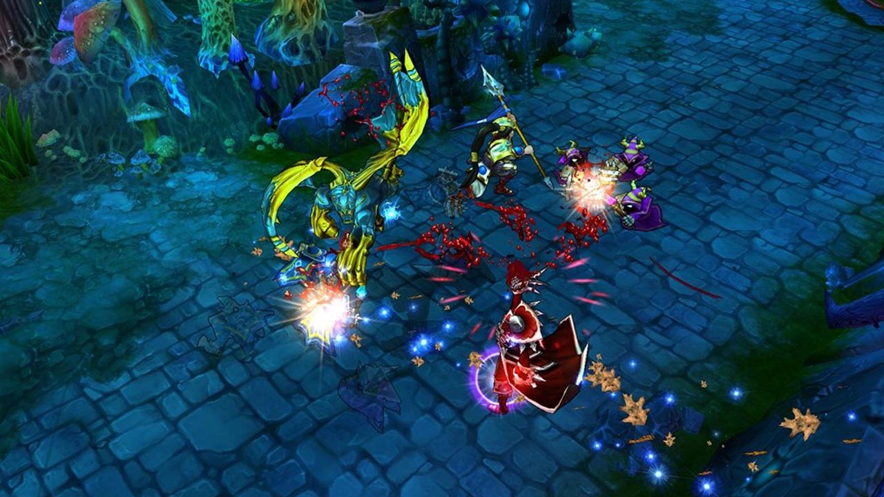 Captura de tela de partida do League of Legends, um dos jogos mais jogados do mundo