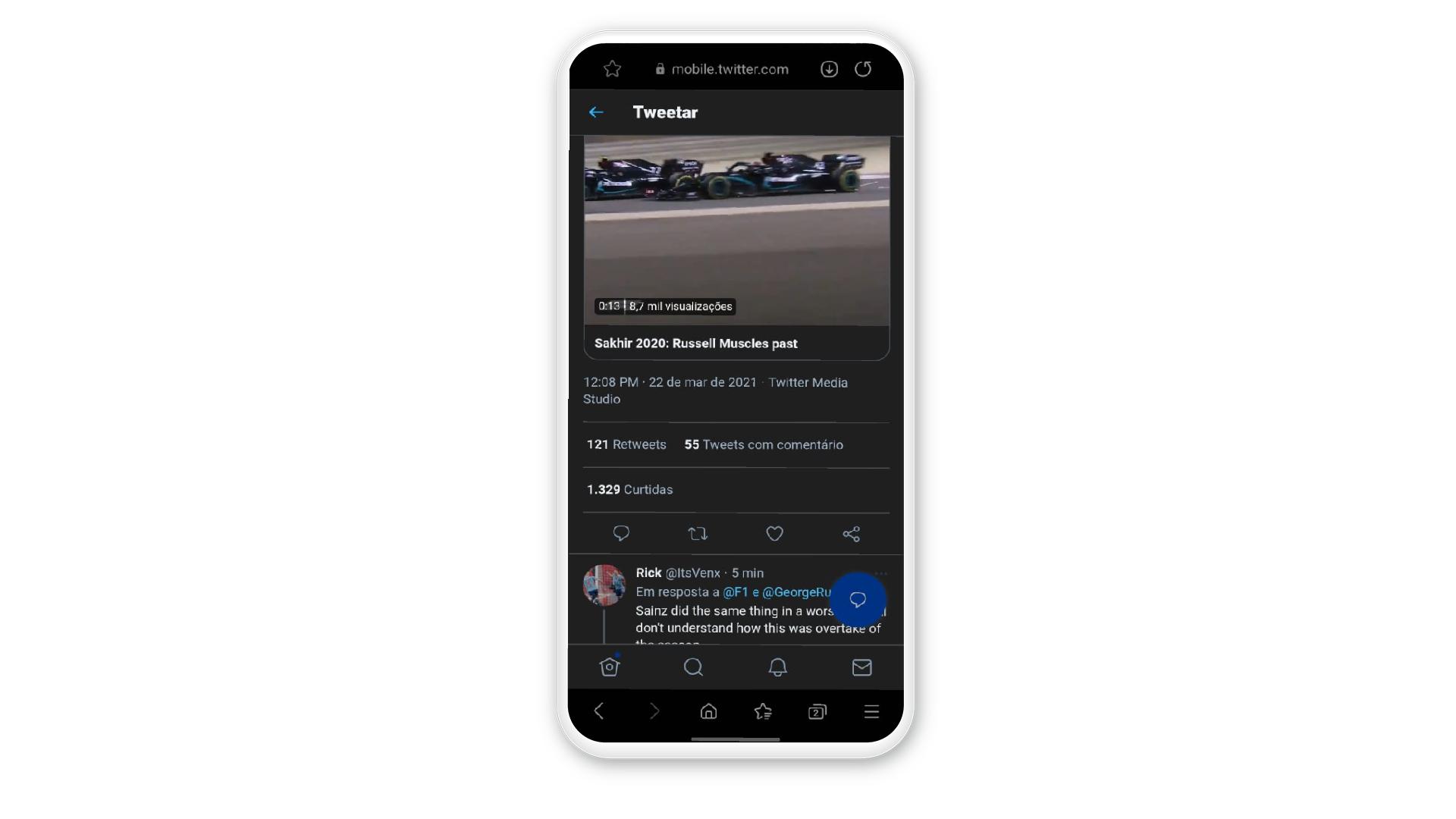 """Como baixar vídeo do Twitter: ache o vídeo e clique no """"compartilhar"""" (Foto: Arte / Zoom)"""