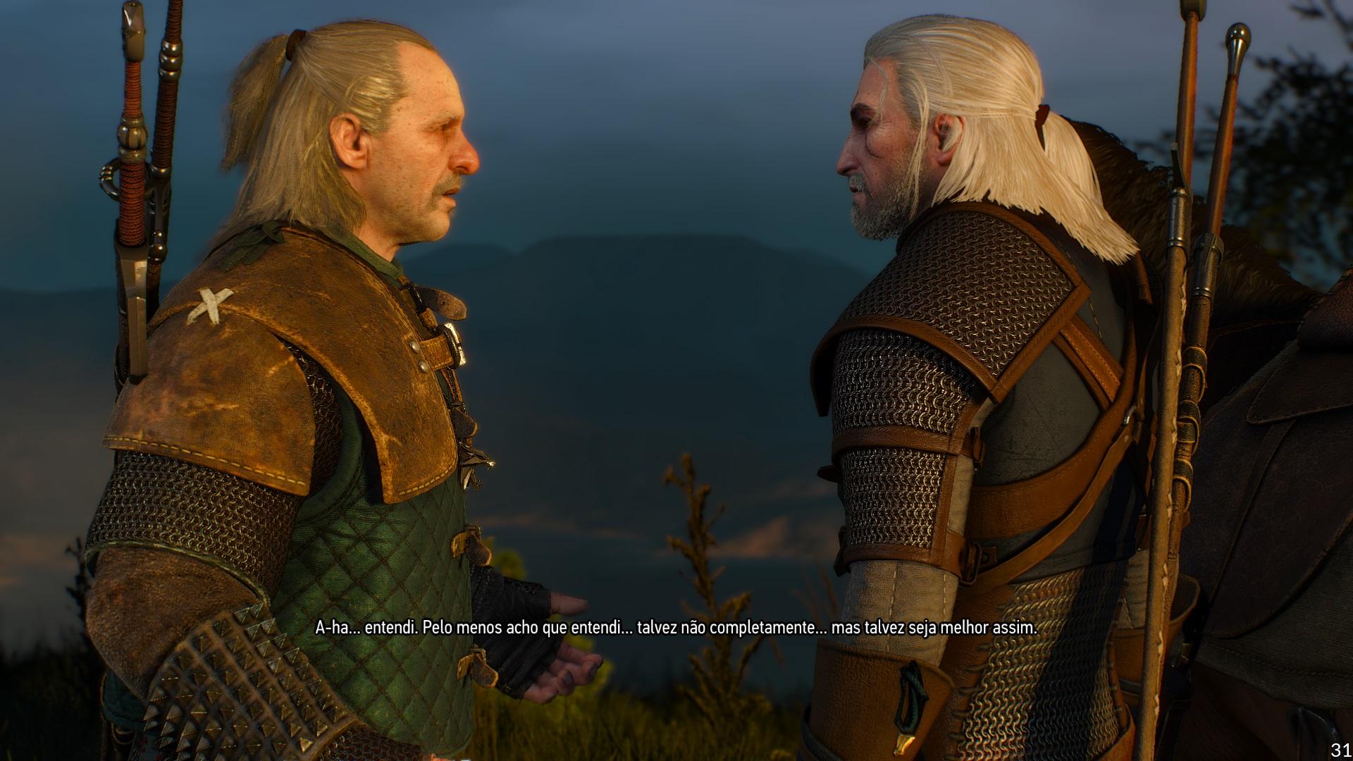 Só nas cutscenes, as cenas em que o jogador não controla os personagens, é que o FPS baixou para 31 (Reprodução: Guilherme Toscano)