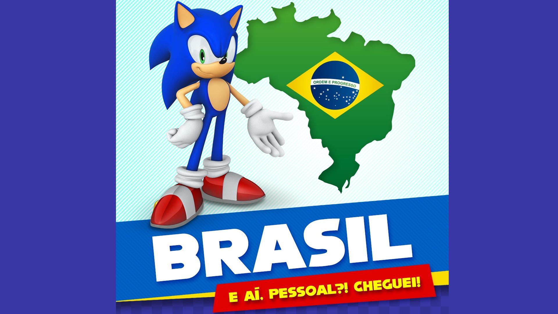 As redes sociais de Sonic já estão no ar e com conteúdos em português! (Fonte: Divulgação)