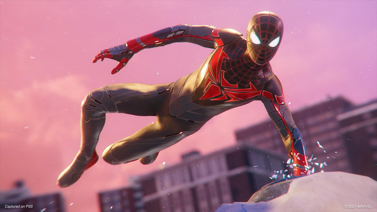 Spider-Man: Miles Morales ganha a Advanced Tech Suit com deformação de músculos realista no PlayStation 5 (Reprodução: Insomniac Games)