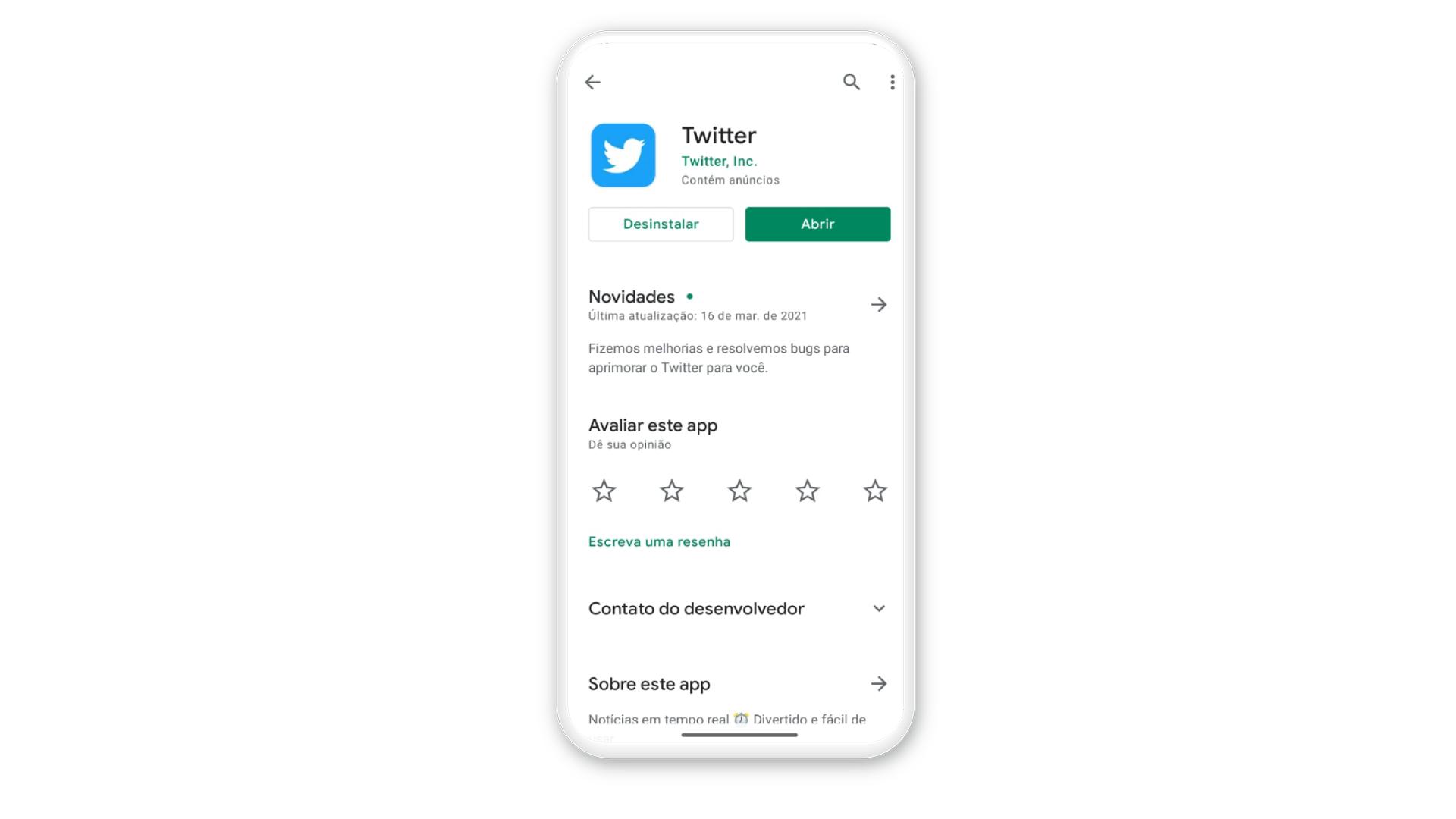 Como mudar o @ do Twitter: no iPhone: baixe o app do Twitter na Play Store se tiver Android (Foto: Arte/Zoom)