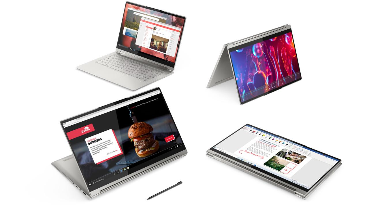 O Lenovo Yoga 9i é capaz de realizar diversas tarefas e acompanha uma caneta para utilizar sua tela de toque (Reprodução: Lenovo)