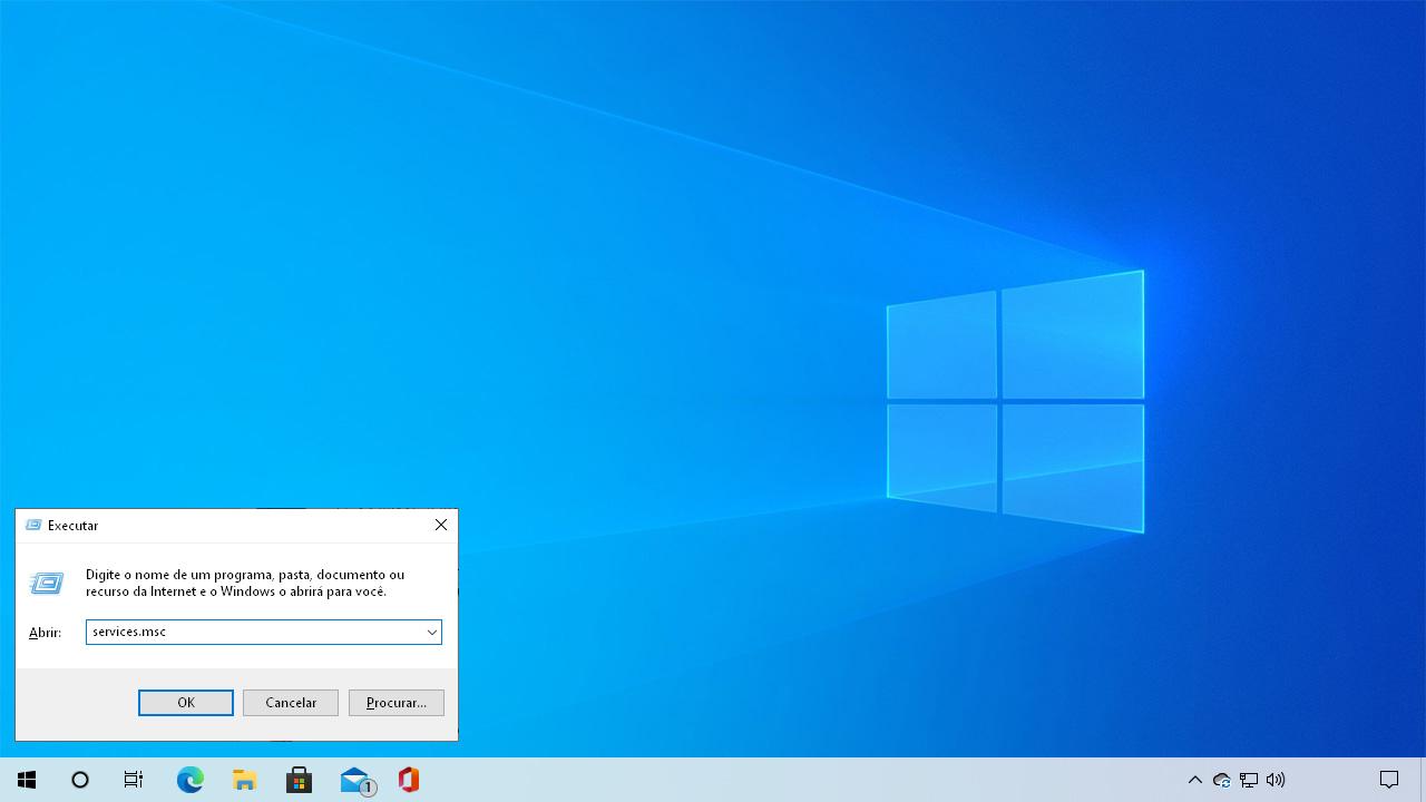 """Pressione Windows + R para abrir o menu executar e digite """"services.msc"""" para ter como desativar Windows Update pela lista de serviços (Reprodução: Redação Zoom)"""