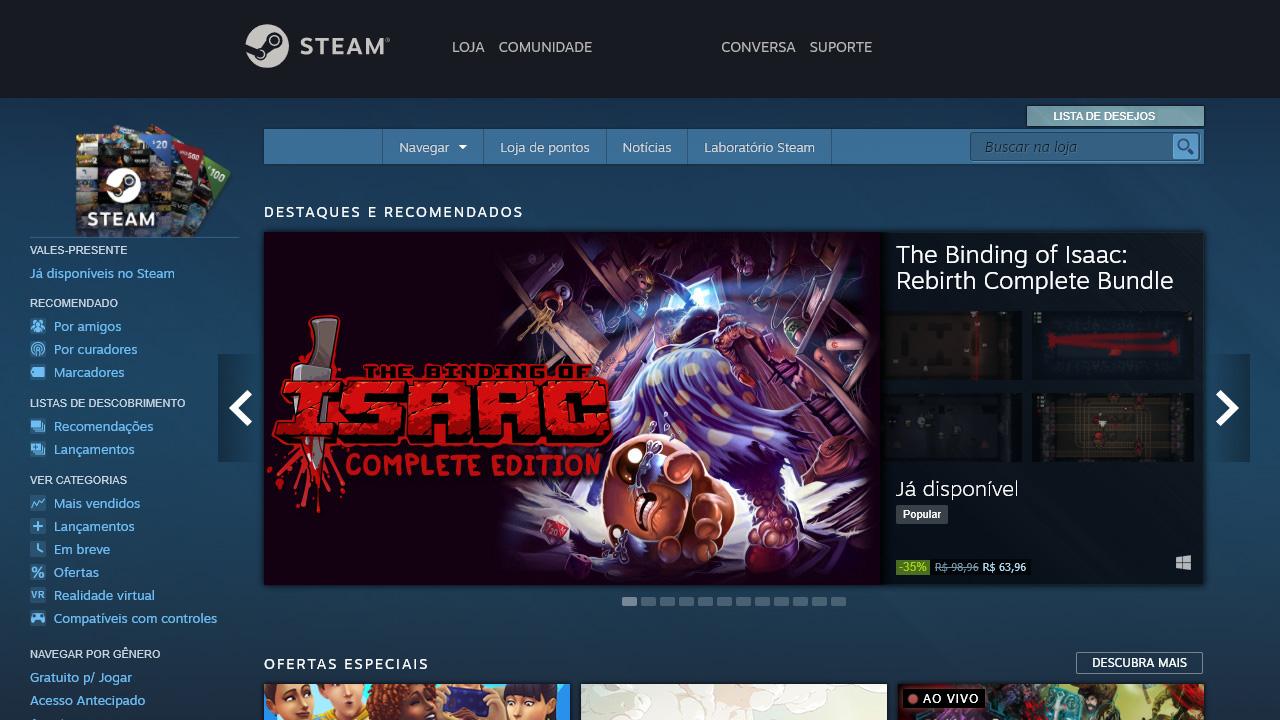 Aprenda como pedir reembolso na Steam caso tenha comprado um game e deseje devolvê-lo por algum motivo (Reprodução: Redação Zoom)