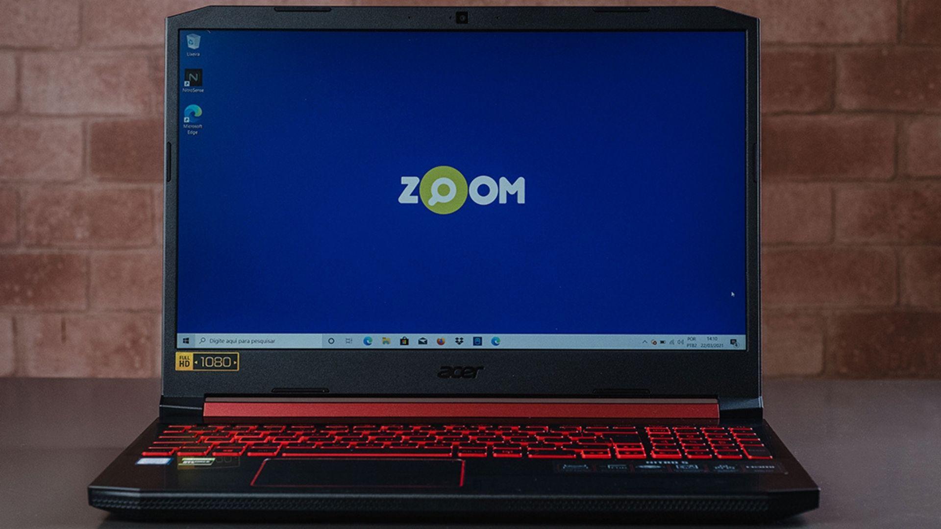 A tela do Acer Aspire Nitro 5 tem resolução Full HD e painel IPS, que garante cores mais vivas (Foto: Zoom)