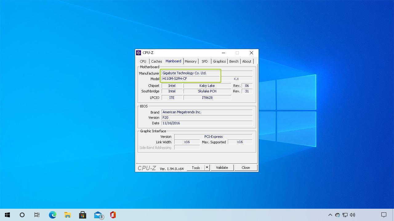 O CPU-Z é um software útil para explorar as configurações de seu PC, como saber o modelo da placa-mãe (Reprodução: Redação Zoom)