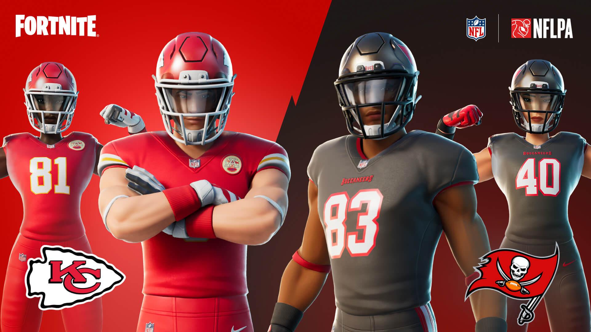 O conjunto Gangues do Touchdown possui dois estilos de uniforme (Foto: Epic Games).