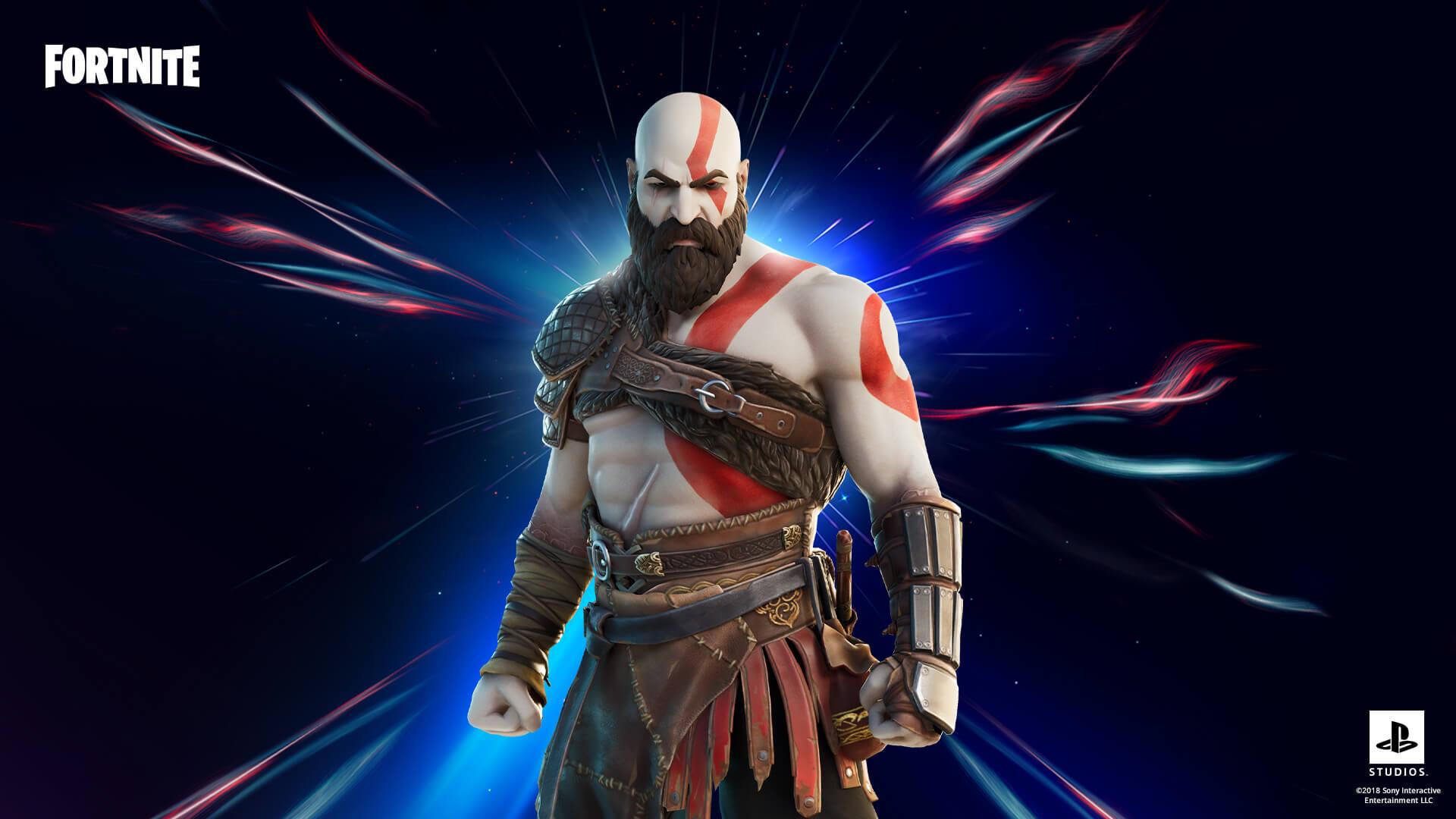 Para quem está acostumado a lutar contra deuses gregos e nórdicos, uma vitória vai ser moleza no Fortnite com a skin do Kratos (Foto: Epic Games).