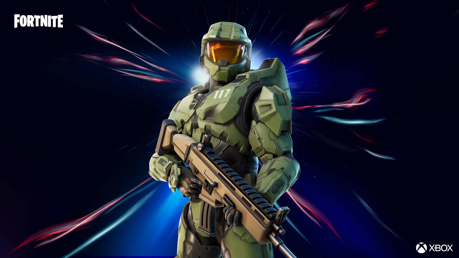 A skin do Master Chief vai te transformar no caçador do Covenant em Fortnite (Foto: Epic Games).