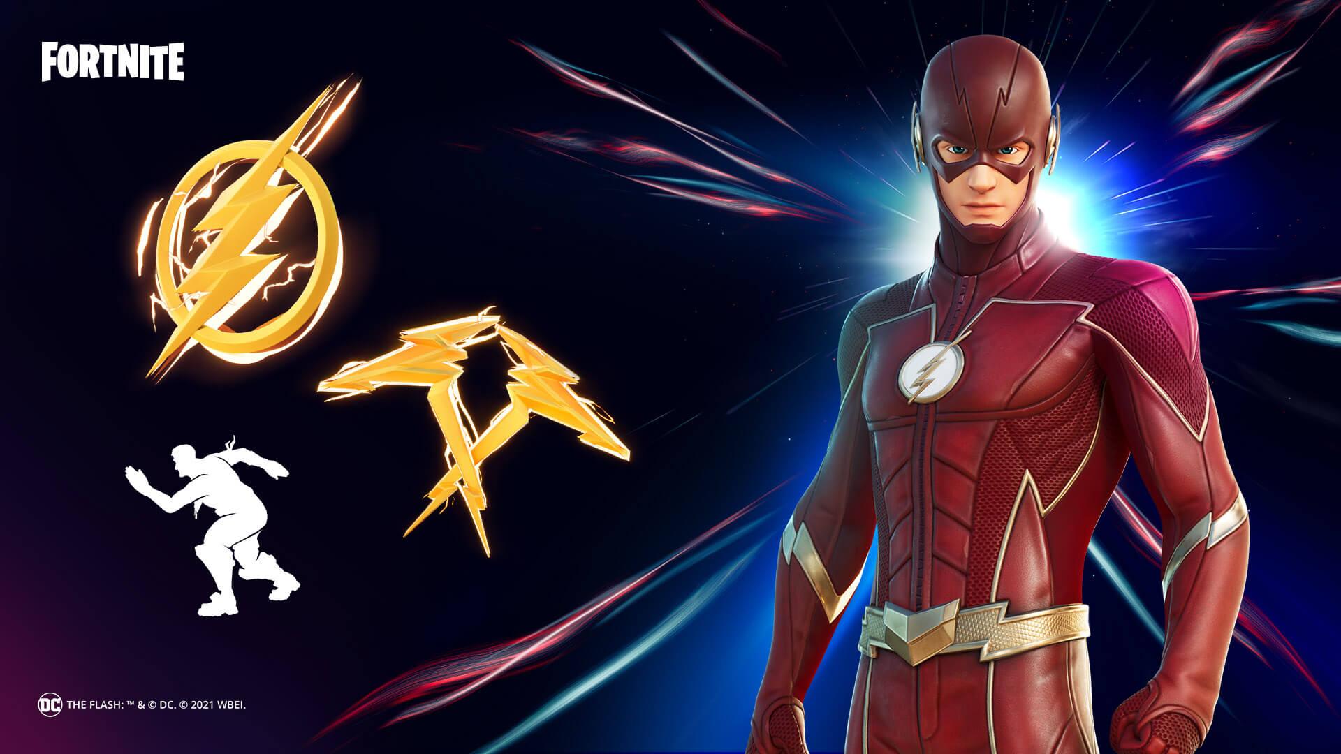 O traje do Flash para você ser o mais rápido da partida (Foto: Epic Games).