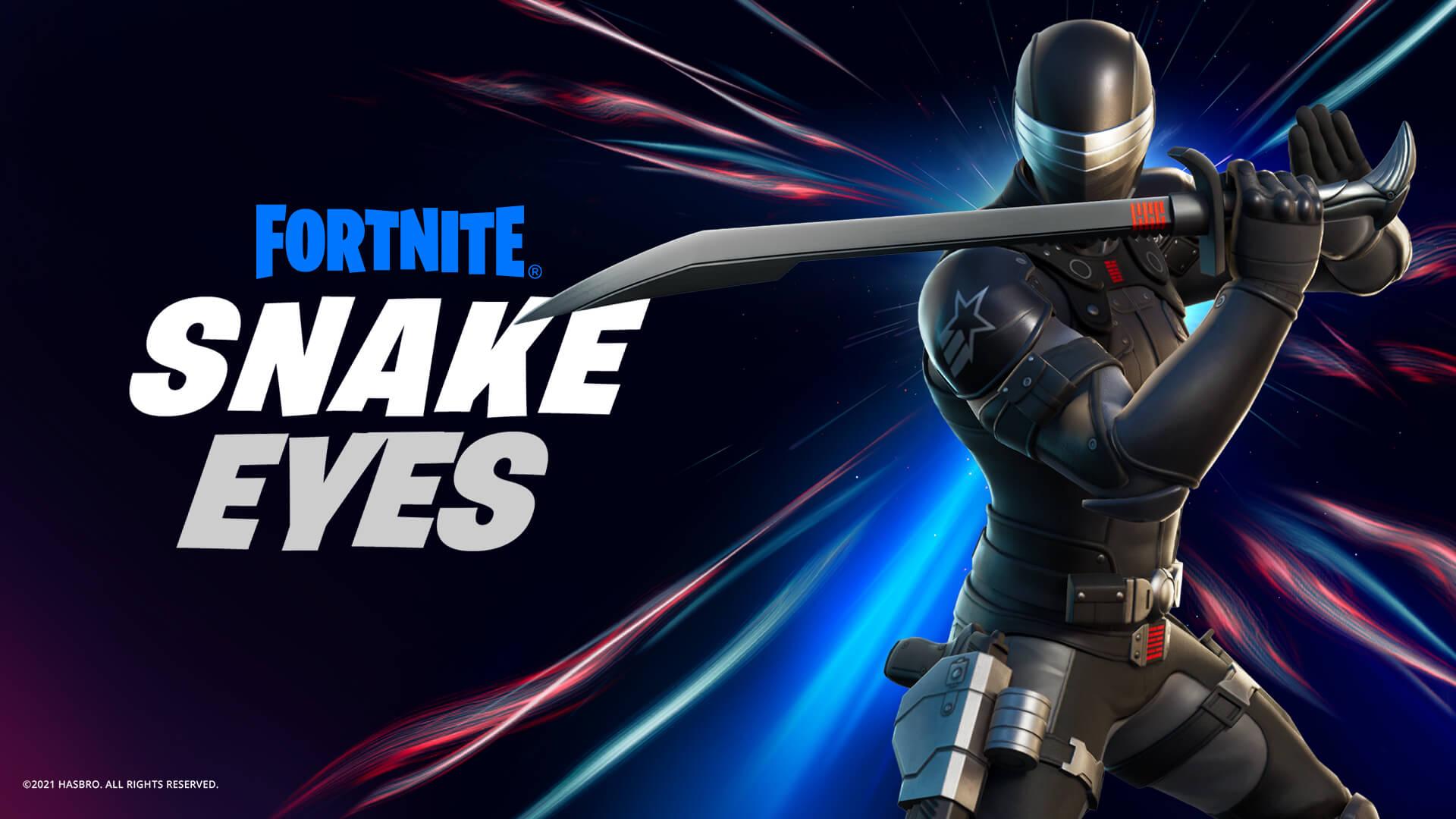 Vista-se de Snake Eyes para ser implacável com os adversários (Foto: Epic Games).