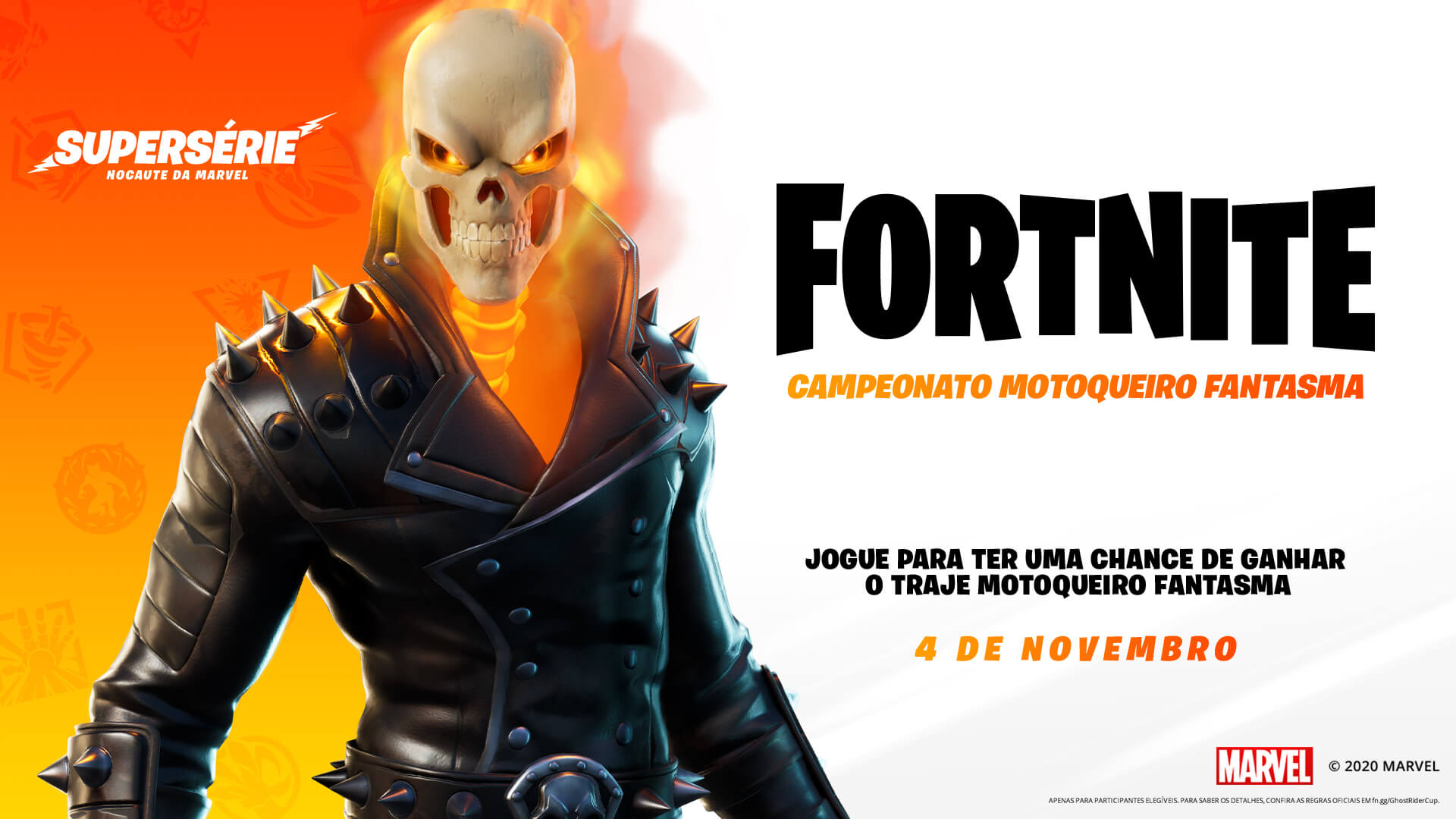 No Fortnite, você também pode se vestir de anti-herói com a skin do Motoqueiro Fantasma (Foto: Epic Games).