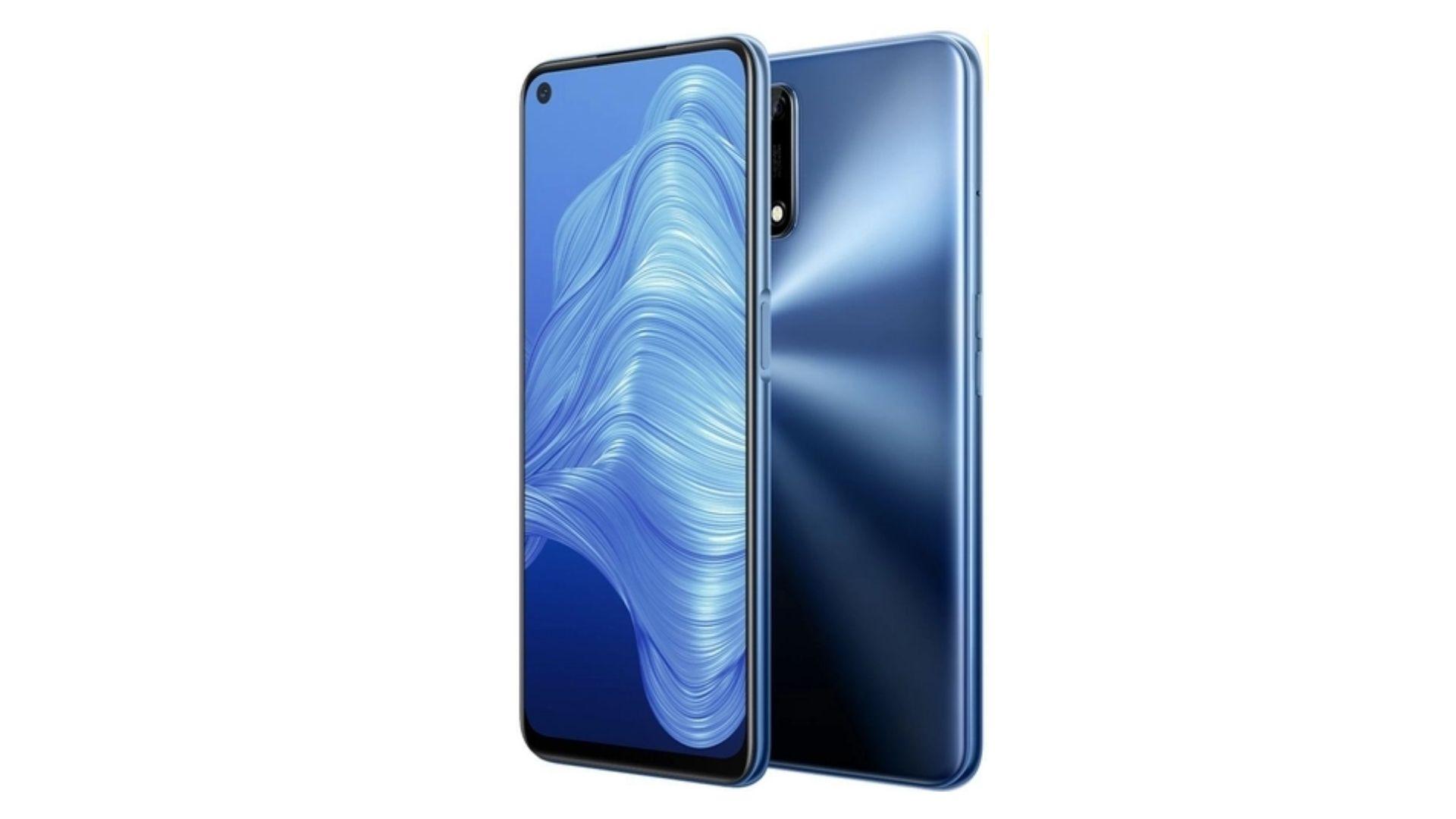 Realme 7 5G está disponível nas cores azul (foto) e prata (Foto: Divulgação/Realme)