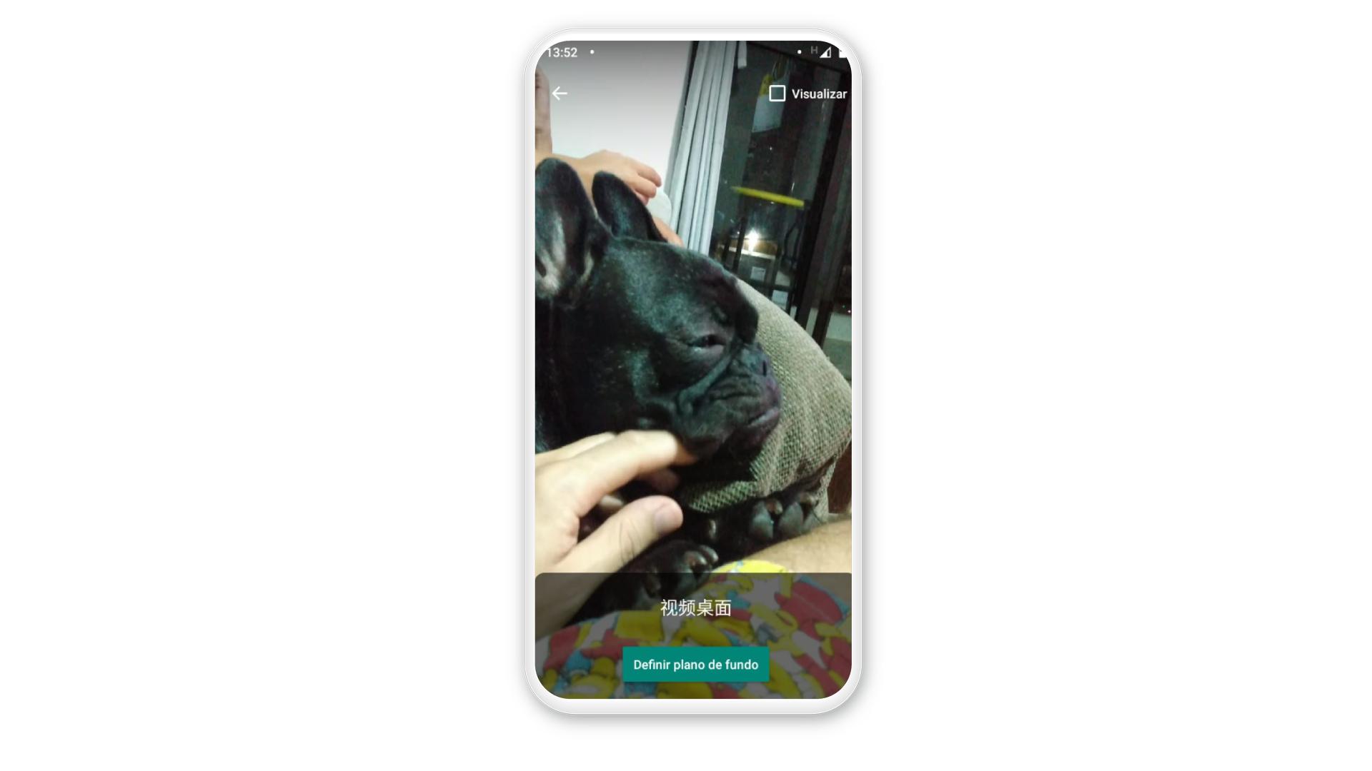 Como colocar vídeo na tela de bloqueio: clique em definir plano de fundo (Foto: Arte / Zoom)