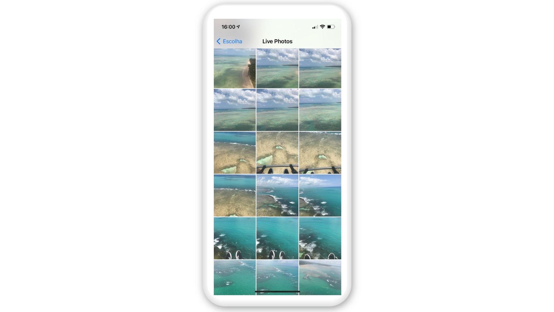 Como colocar vídeo na tela de bloqueio: selecione sua Live Photo (Foto: Arte / Zoom)