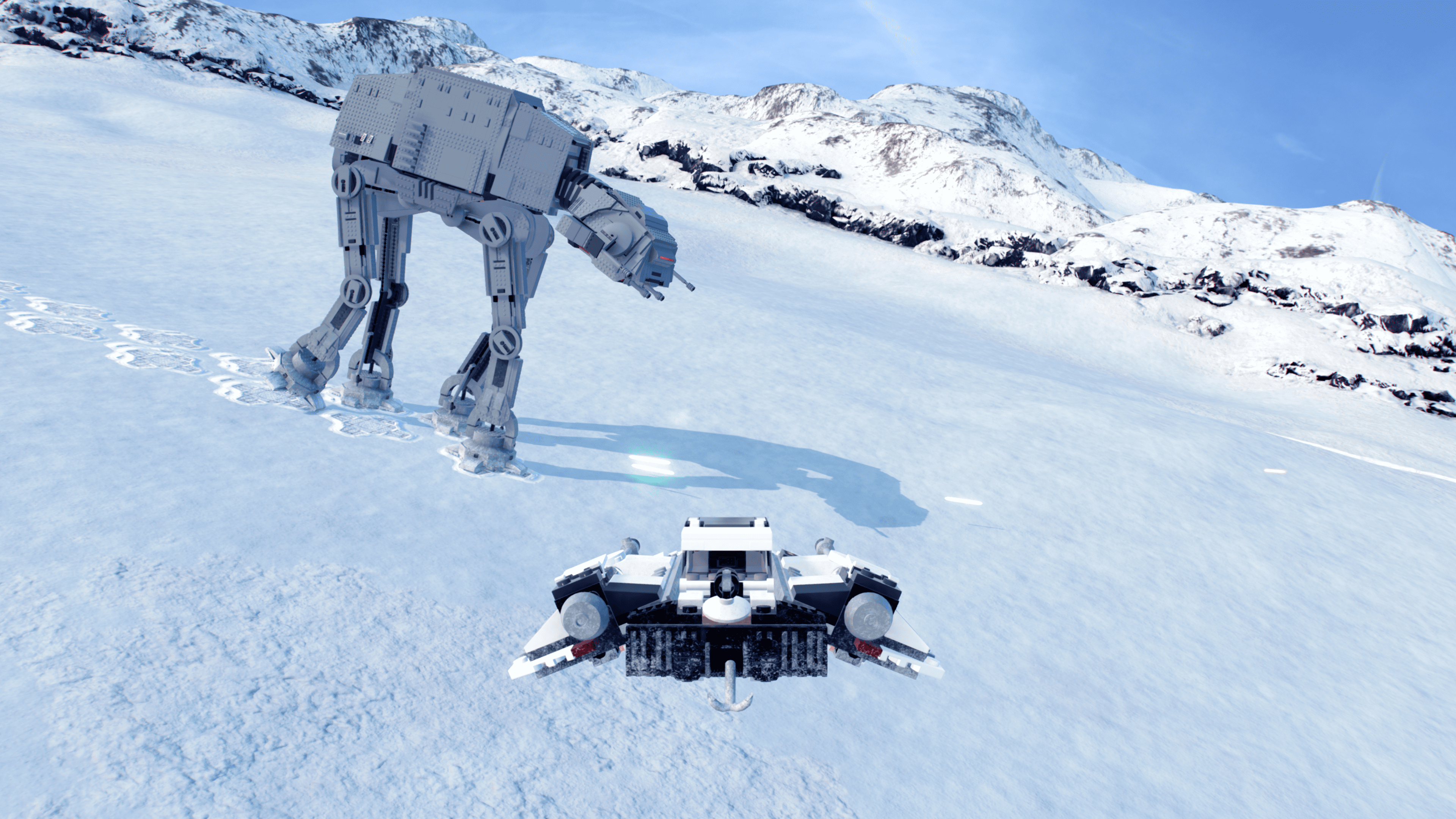 Hoth é um dos planetas mais queridos pelos fãs e sua batalha é um dos momentos de O Império Contra-Ataca mais revividos em jogos da franquia (Fonte: Divulgação/TT Games)