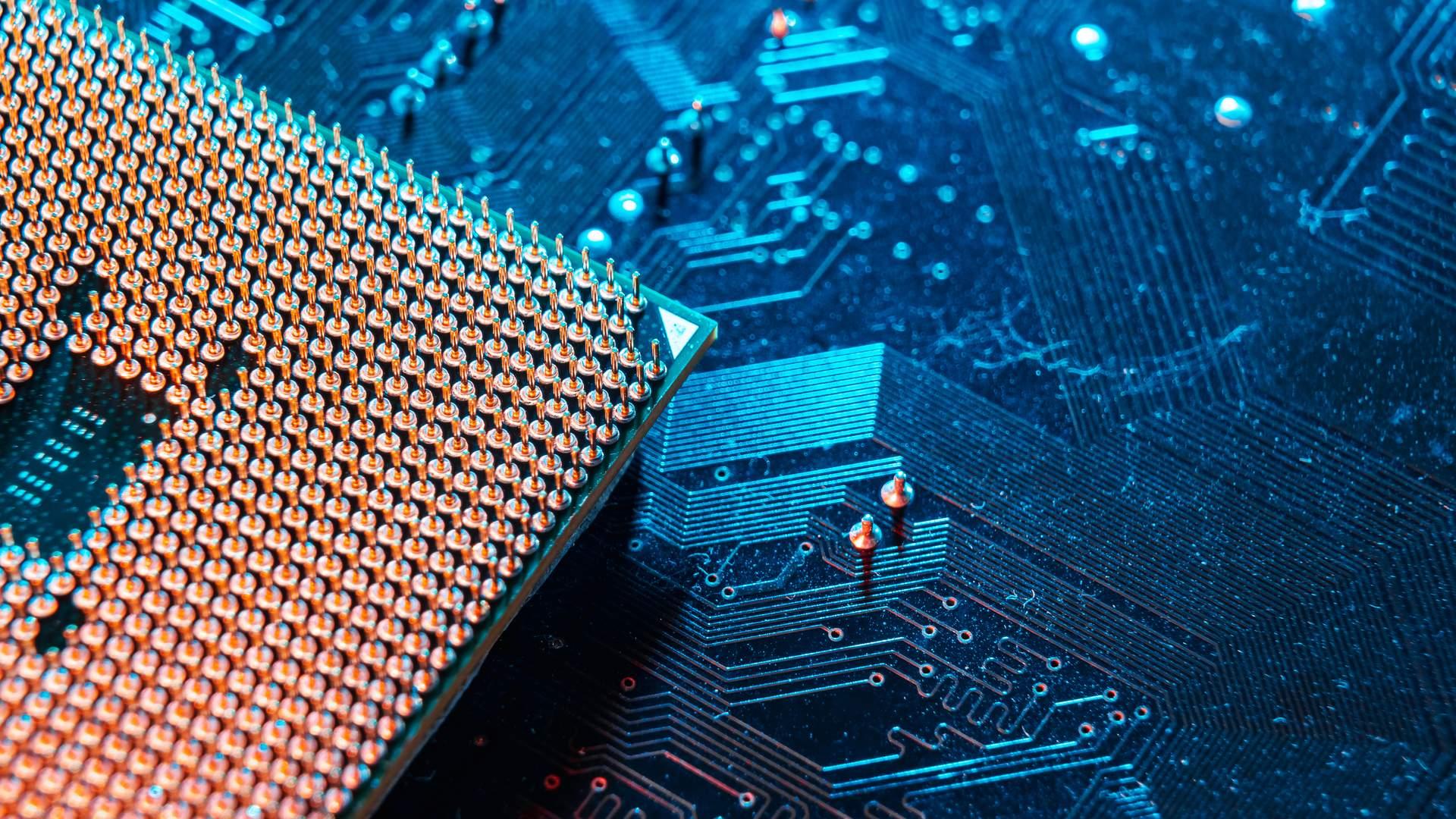 Foto de soquete para processador em placa-mãe
