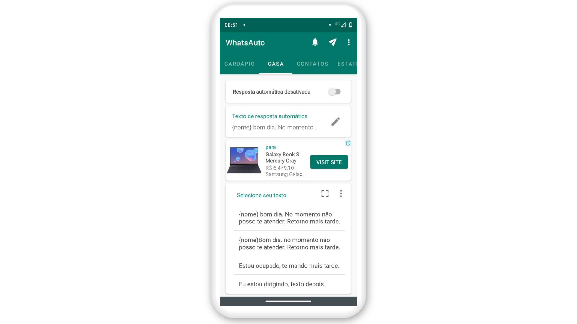 Mensagem automática WhatsApp: use o WhatsAuto para fazer (Foto: Arte / Zoom)