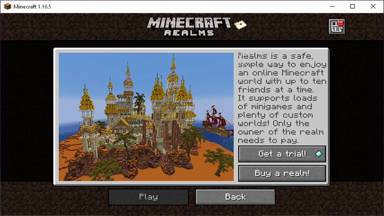 Minecraft Realms é uma forma oficial que usuários têm como jogar Minecraft online em um servidor pago e seguro da própria Microsoft (Reprodução: Redação Zoom)