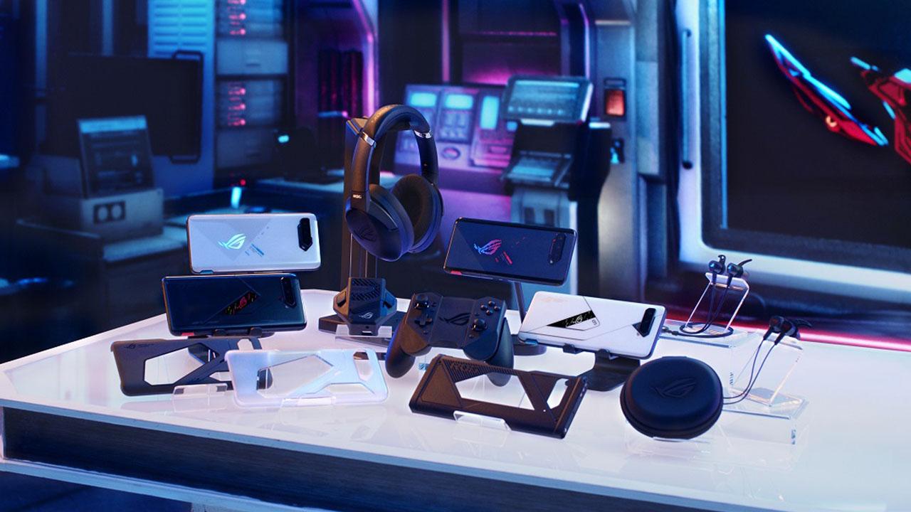 Acessórios do Rog Phone 5. (Foto: Divulgação/Asus)