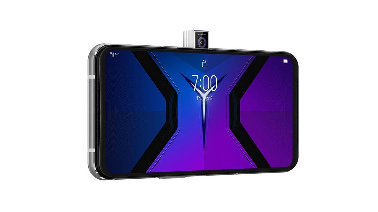 Câmera frontal do Lenovo Legion Phone Duel 2. (Foto: Divulgação/Lenovo)