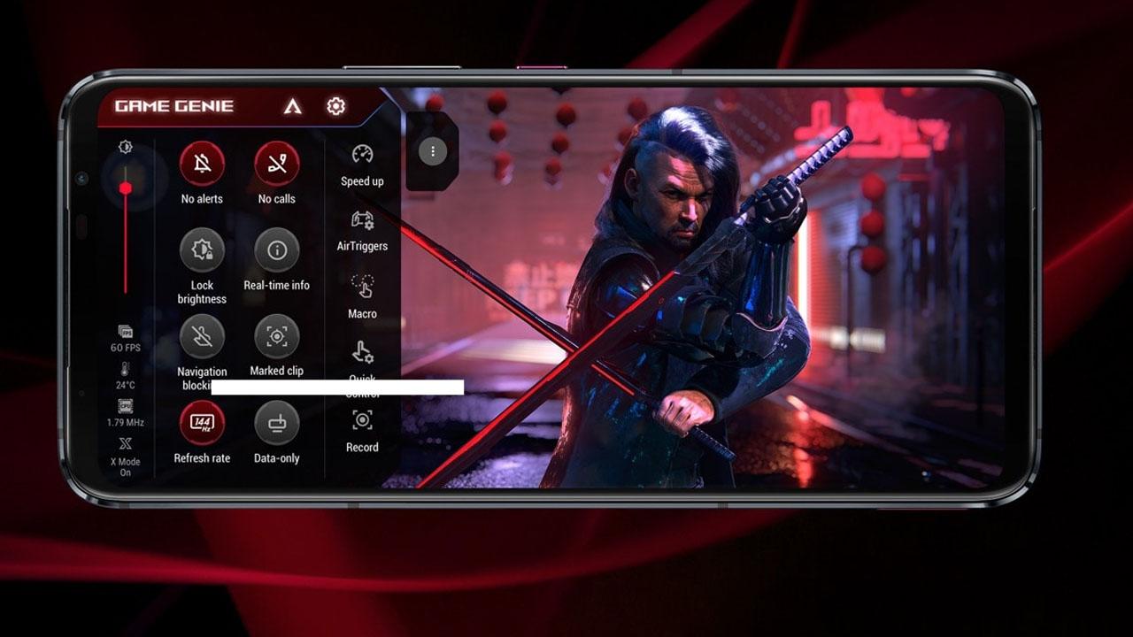 Configurações do modo otimizado para jogos do Rog Phone 6. (Foto: Divulgação/Asus)