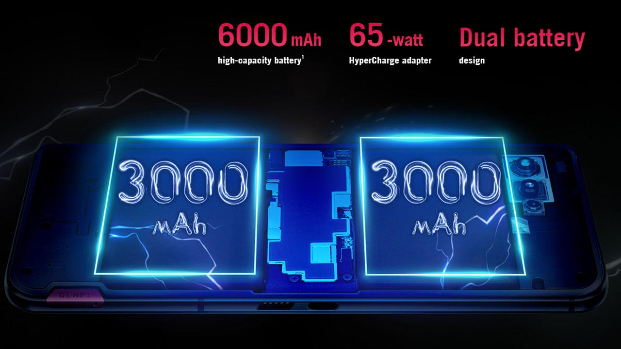 O Rog Phone 5 tem 6.000 mAh de bateria. (Foto: Divulgação/Asus)
