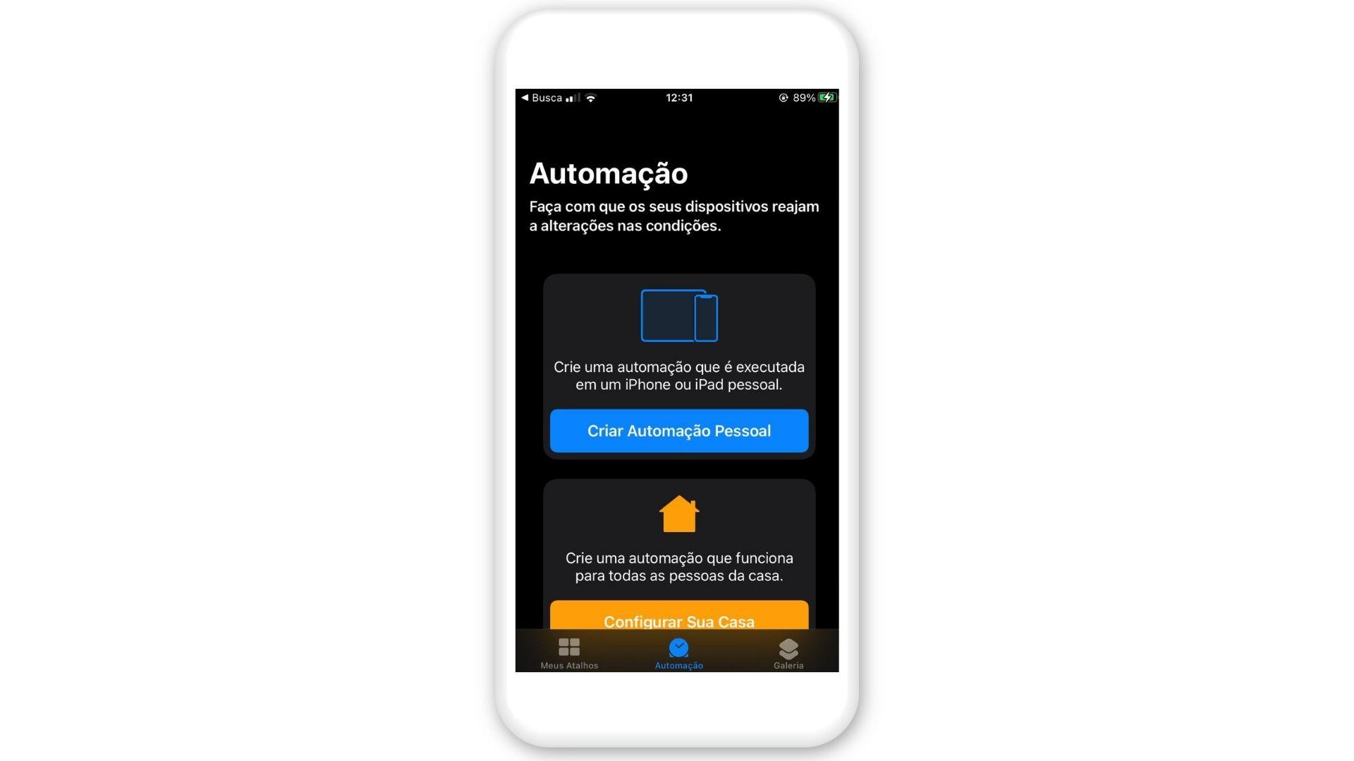 Mensagem automática WhatsApp: clique em Criar Automação Pessoal (Foto: Arte / Zoom)