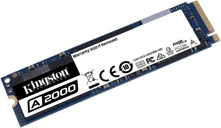 Uma das vantagens dos SSD M2 NVMe é que eles são muito compactos (Fonte: Divulgação/Kingston)