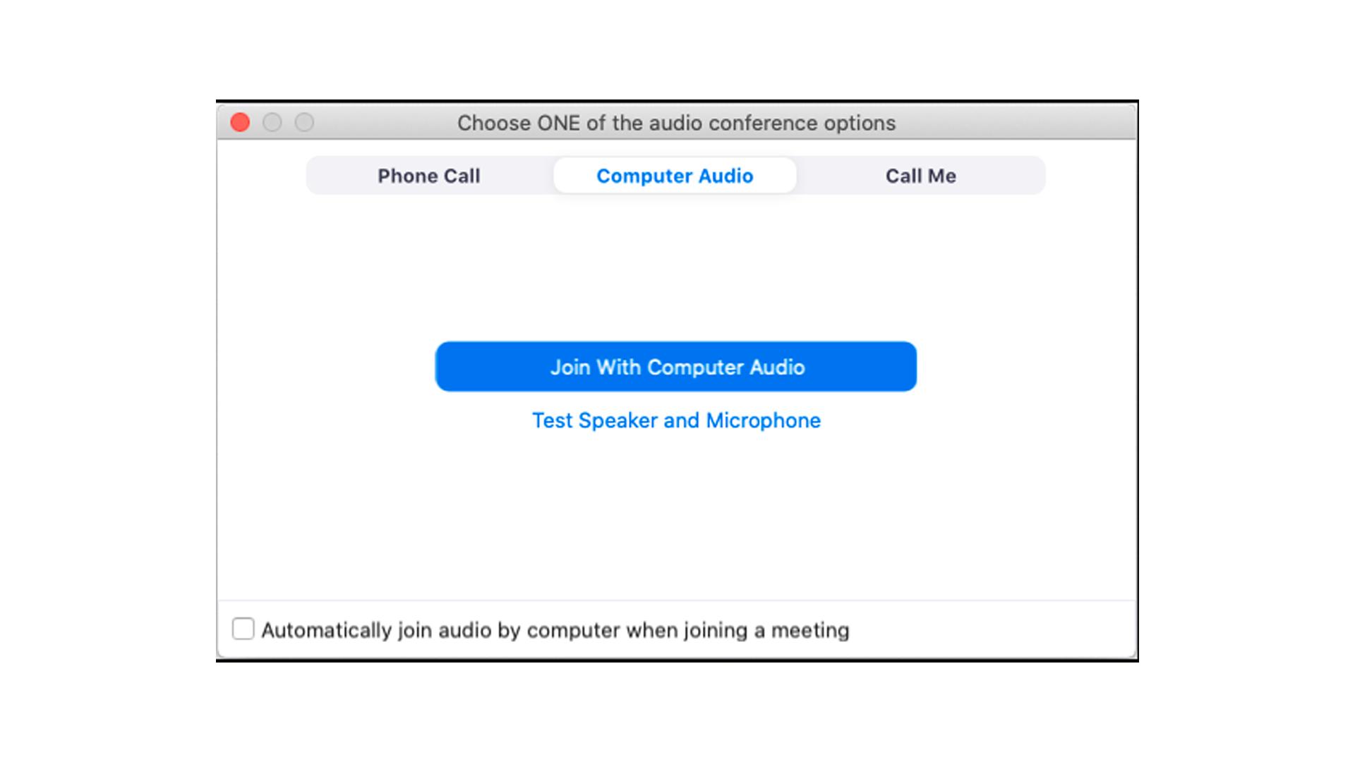É possível fazer o teste de microfone no Zoom (Foto: Reprodução/Zoom Meetings)
