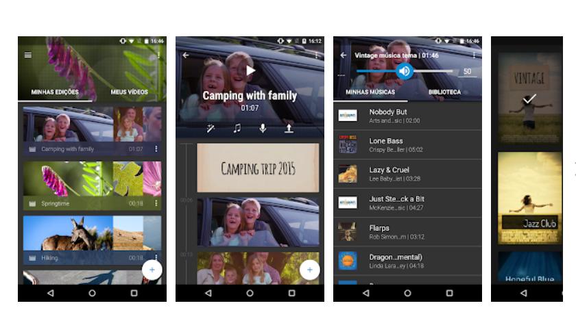 Imagem mostra interface do app WeVideo