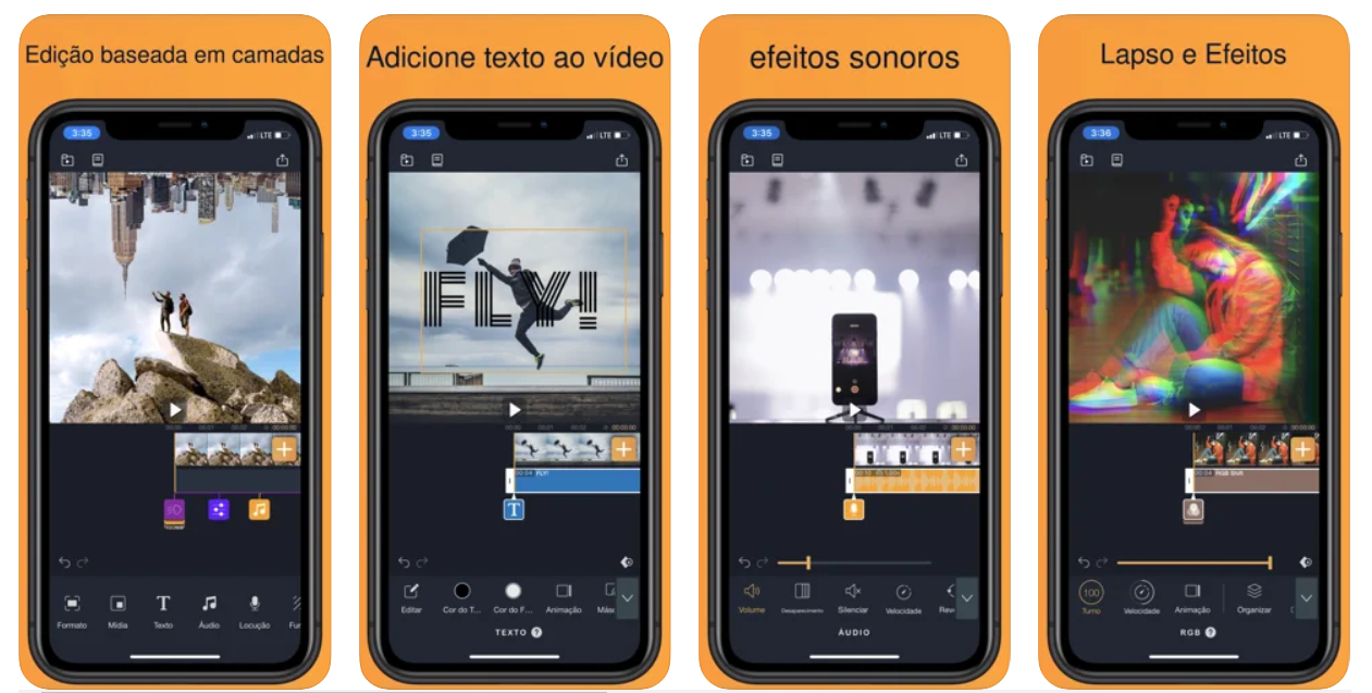 Imagem mostra interface do app VMX