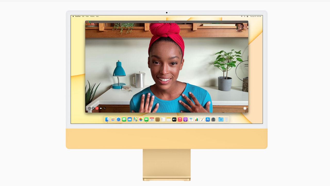 O novo iMac promete alta qualidade nas chamadas de vídeo. (Foto: Divulgação/Apple)