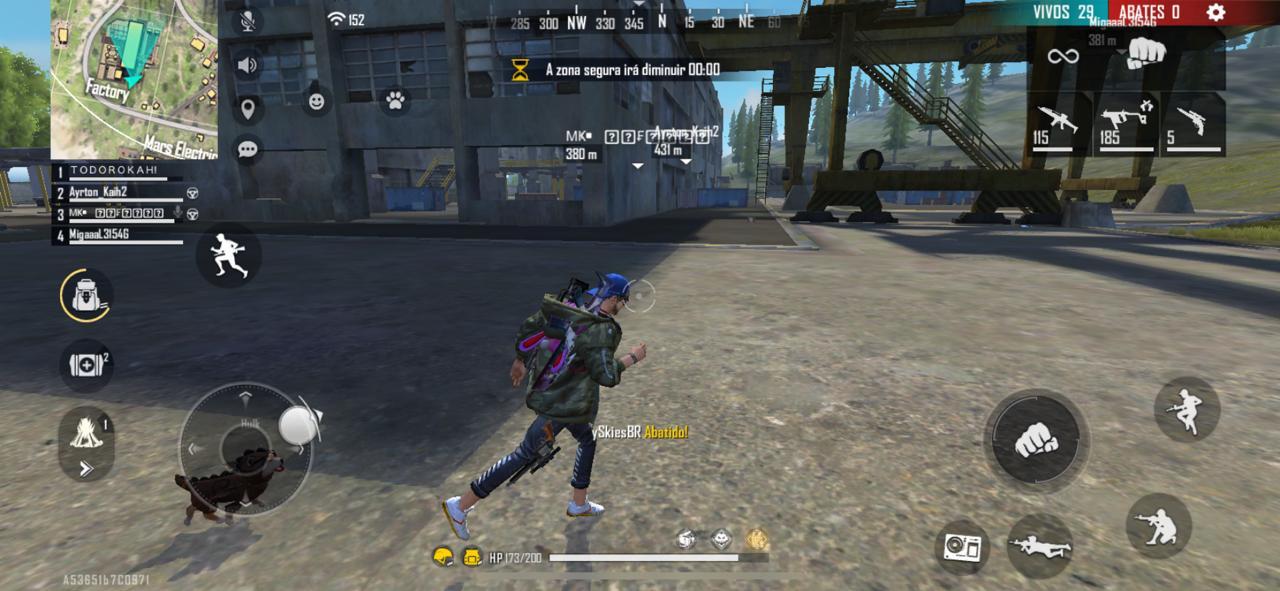 Correr com a arma na mão é um dos erros mais cometidos durante a jogatina (Foto: Reprodução)