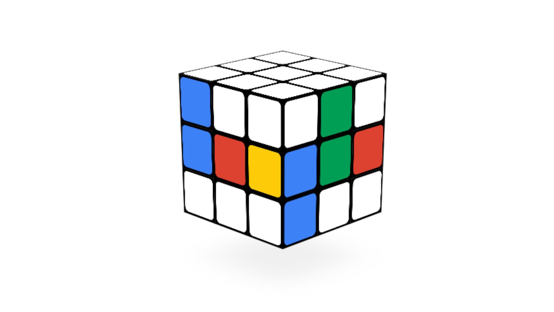 Cubo mágico do Rubik em formato virtual no Google (Fonte: Google Doodle)