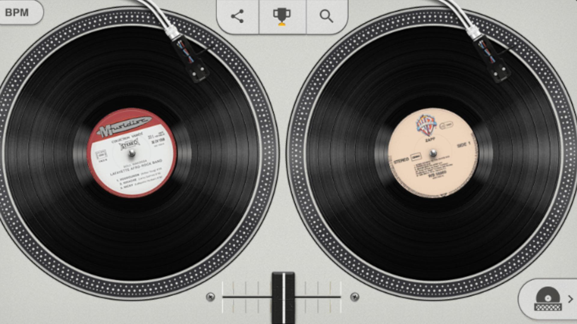 Brinque de DJ e faça mixagens de Hip Hop (Fonte: Google Doodle)