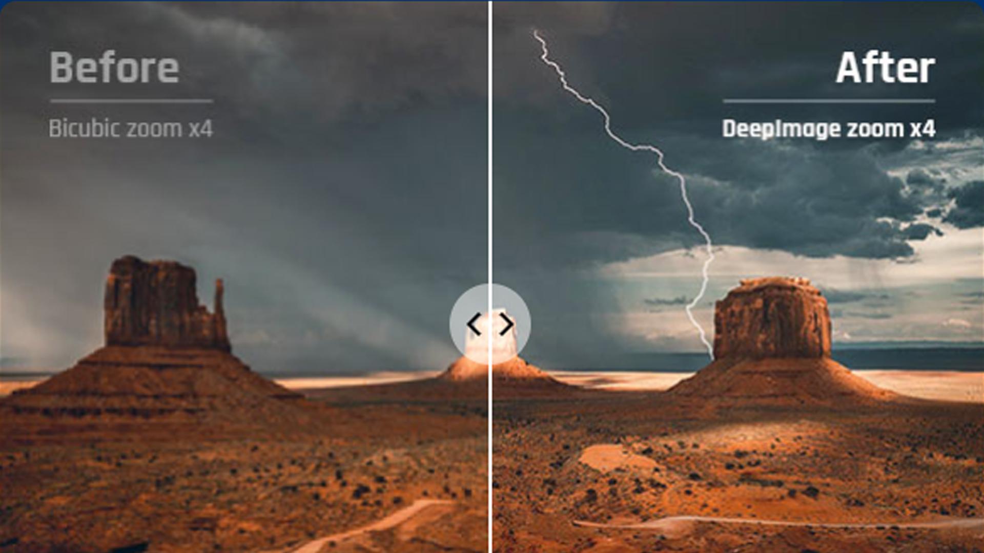 O aplicativo para melhorar a qualidade da foto possui recursos gratuitos e fáceis de usar (Fonte: Deep-Image / Reprodução)