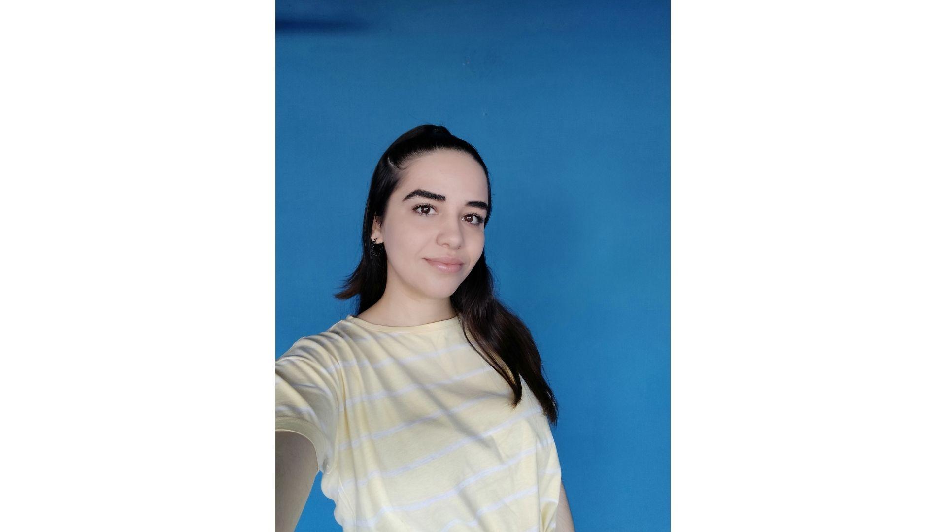 Selfie feita com o Redmi Note 8 (Foto: Aline Batista/Zoom)