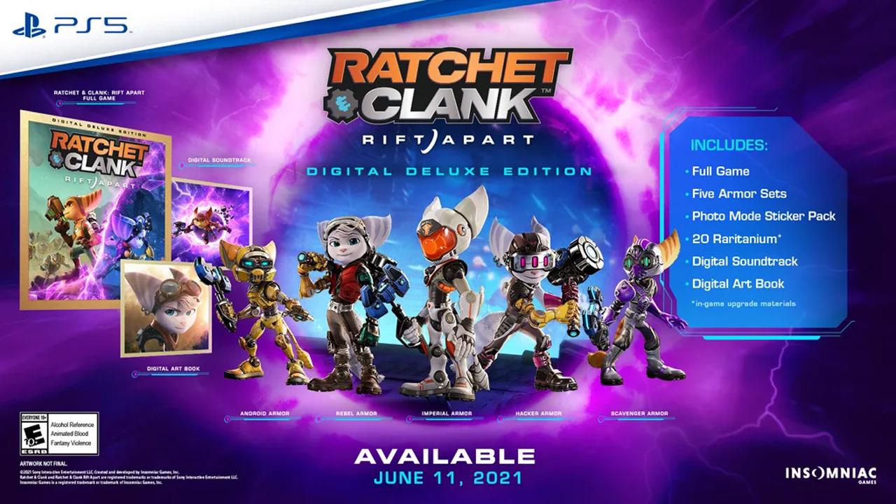 Ratchet and Clank: Rift Apart Digital Deluxe Edition acompanha itens extras além de livro de artes e trilha sonora digitais (Reprodução: PlayStation Blog)