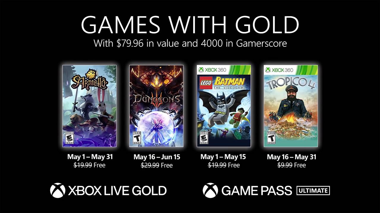 Confira os jogos do Games with Gold (Foto: Reprodução/Microsoft)