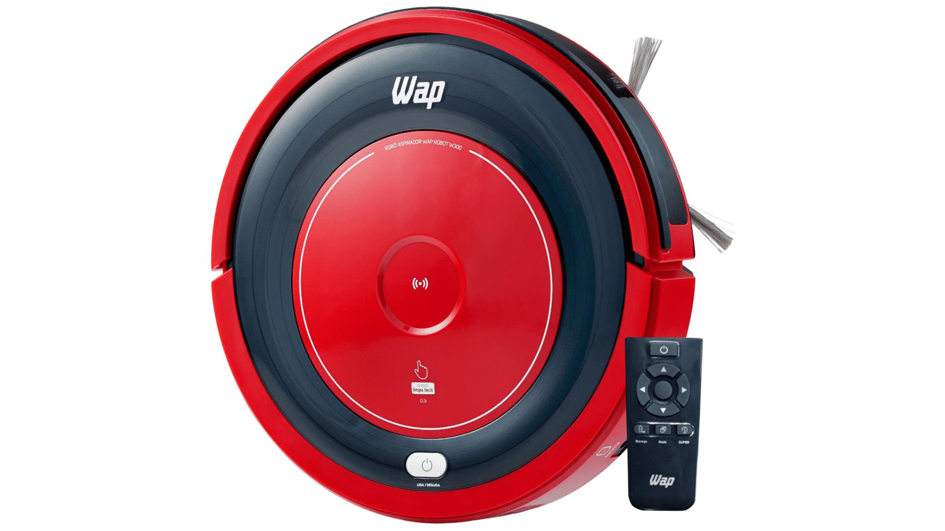 Design do aspirador robô WAP W300. Divulgação / WAP