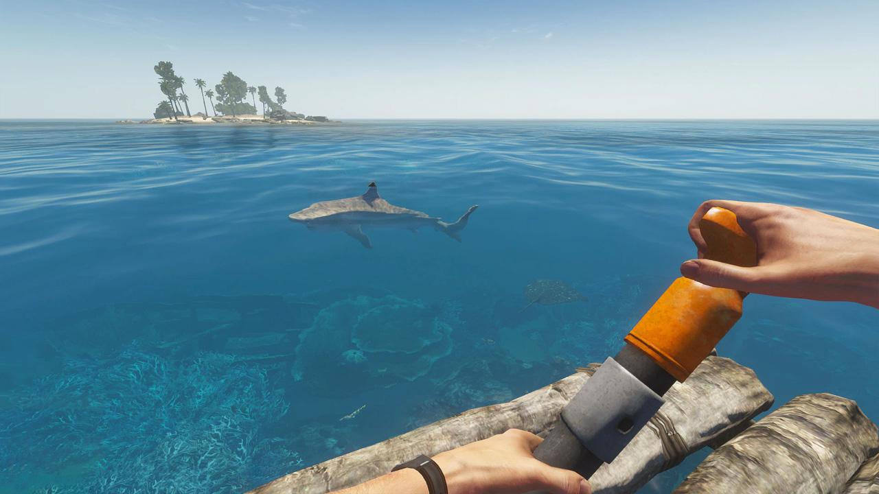 Stranded Deep é um jogo de sobrevivência no meio do oceano que desafia jogadores a se manterem vivos em condições extremas (Reprodução: PlayStation Store)