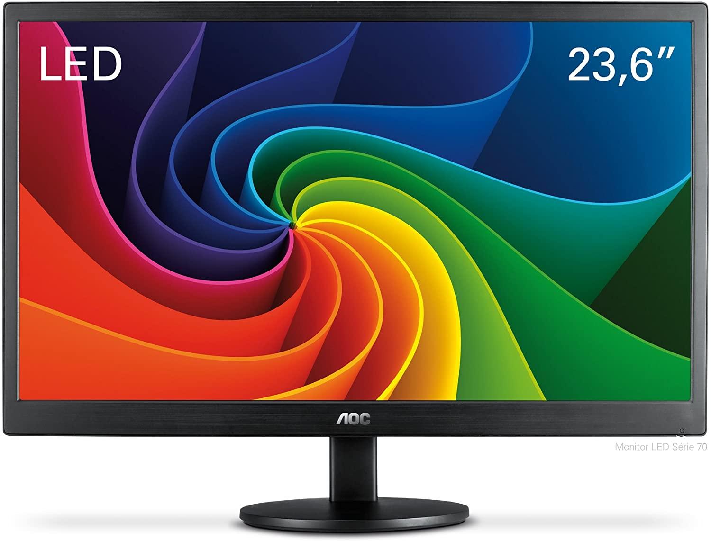 Procurando monitor gamer barato? O AOC M2470SWD tem painel em LED VA, resolução em Full HD e entrada DVI (Foto: Divulgação/AOC)