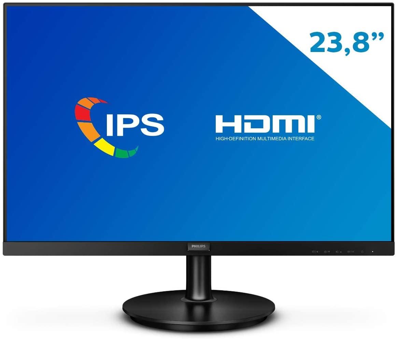 O monitor Philips 242V8A possui uma variedade de entradas, entre elas a HDMI, acompanha som embutido e painel IPS (Foto: Divulgação/Philips)